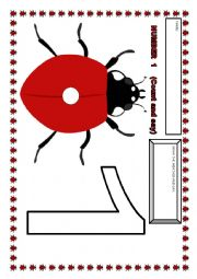 English Worksheet: Ladybug numbers-FLASHCARDS