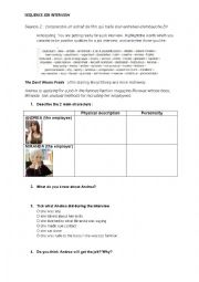english worksheets the devil wears prada a job interview. Black Bedroom Furniture Sets. Home Design Ideas