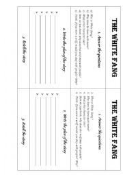 English worksheets: The White Fang