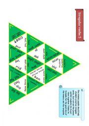English Worksheet: Trimino - Irregular verbs game (part 5)
