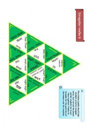 English Worksheet: Trimino - Irregular verbs game (part 6)