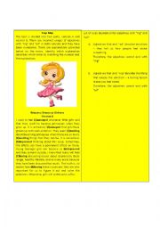 English Worksheet: Adjectives with
