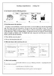 English Worksheet: Eating out