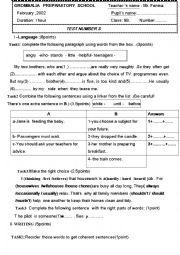 English Worksheet: language exercises for intermediate  students