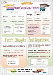 English Worksheet: 4 Tenses Review