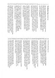 English Worksheet: Raven Poem