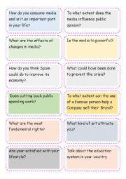 English Worksheet: c1 conversation
