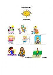 English Worksheet: Saying morning routines
