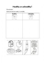 English worksheets: Healthy food