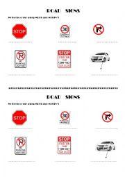 English Worksheet: ROAD SIGNS