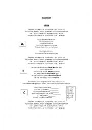 English Worksheet: Rehab - Amy Winehouse