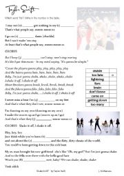 English Worksheet: �Shake it Off� by Taylor Swift