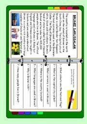 English Worksheet: ASEAN series - Brunei Darussalam