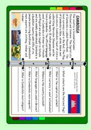 English Worksheet: ASEAN series - Cambodia