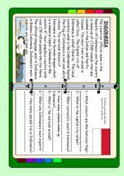 English Worksheet: ASEAN series - Indonesia