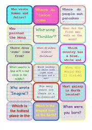 English Worksheet: subject and object quiestions