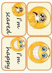 English Worksheet: Flashcards feelings set1