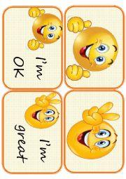 English Worksheet: Flashcards feelings set2