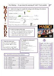English Worksheet: Rude - Magic