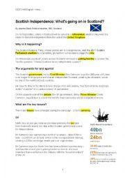 English Worksheet: Scottish Independence