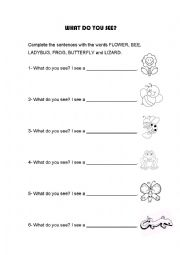 I can see a flower! vocabulary