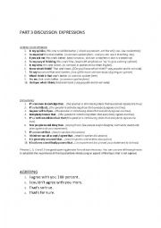 English Worksheet: IELTS SPEAKING PART 3 useful expressions
