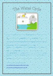 English Worksheet: Listening comprehension: the water cycle, link to the video file included.
