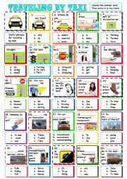 Transportation--Traveling by Taxi--Mixed Verbs