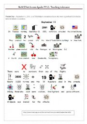 English Worksheet: Teaching tolerance