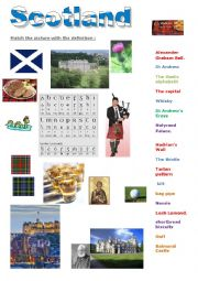 English Worksheet: introduction to Scotland: match symbol to definition