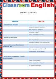 English Worksheet: Classroom English 2 reuploaded