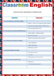 English Worksheet: Classroom English part 1 reuploaded