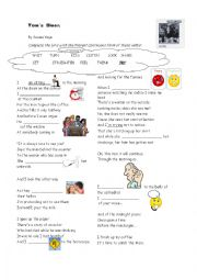 English Worksheet: Song in present continuous