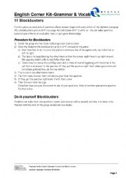 English Worksheet: Blockbusters