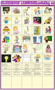 English Worksheet: Classroom language:matching ex