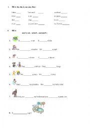 English worksheet:  Verb