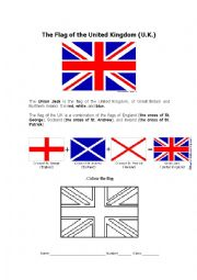 English Worksheet: The Union Jack