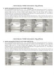 English Worksheet: Mortal Instruments: City of Bones Movie Session