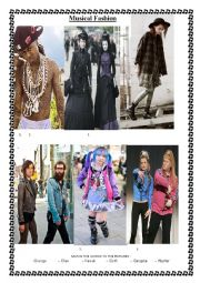 MUSICAL FASHION - FASHION STYLES 2014 - STEREOTYPING -GENRE