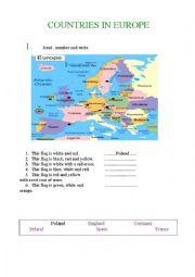 English Worksheet: Map of Europe