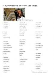 English Worksheet: Poem by Levi Tafari