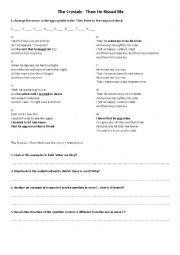 English Worksheet: Indirect Speech - song