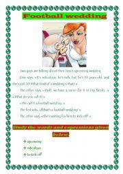 English Worksheet: Football wedding