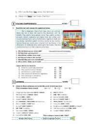 English Worksheet: Used to - english test part 02