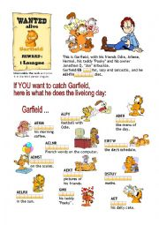 Present Simple: Garfield´s Day