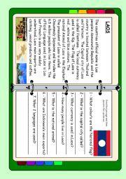English Worksheet: ASEAN series - Laos
