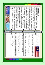 English Worksheet: ASEAN series - Malaysia