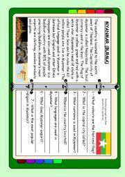 English Worksheet: ASEAN series - Myanmar