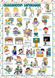 English Worksheet: Classroom Language Picture Dictionary