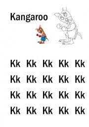 English Worksheet: K-S Handwriting